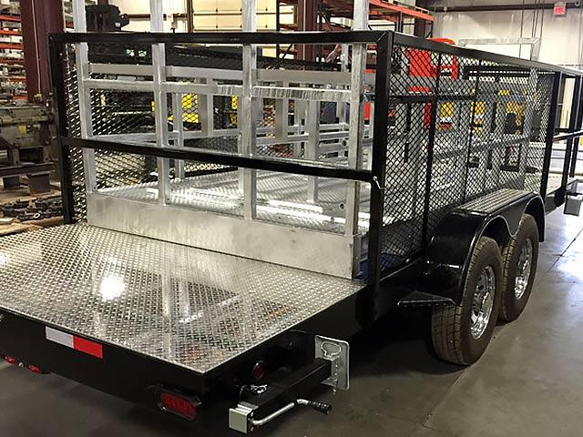 Custom built pipeline trailer
