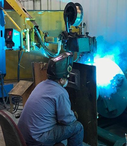 Aluminum Bronze Overlay in Sawyer Fab shop