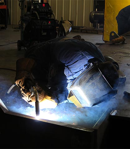 MIG welding on fab project