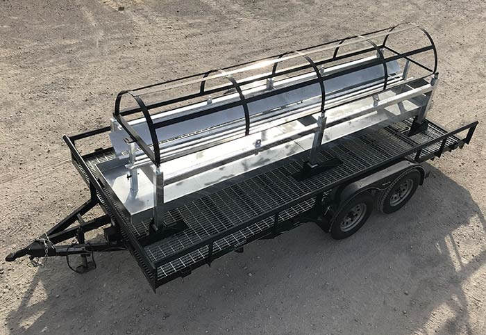 Custom trailer to haul pipeline pigs