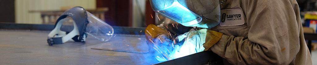MIG welding on a modular processskid