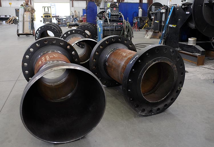 Pipe Spools at Sawyer Fabrication