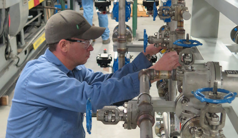 Quality Control inspections on process piping