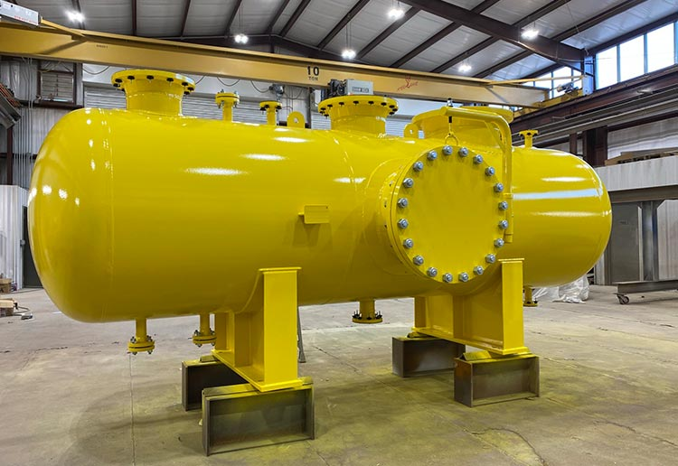 Natural Gas Vessel in the Paint Building at Sawyer Fabrication