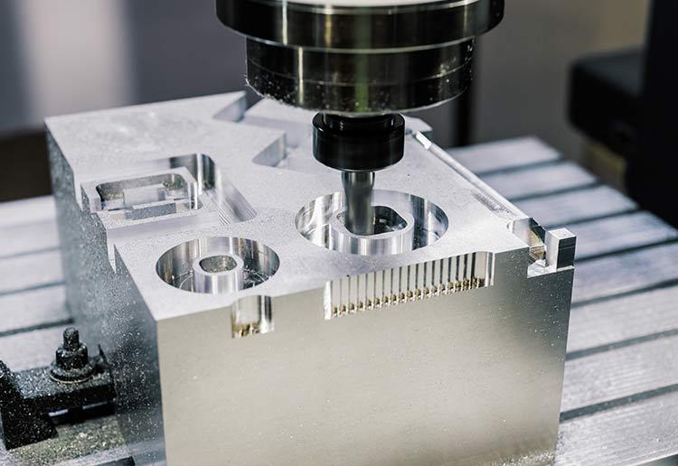 CNC Milling a metal component