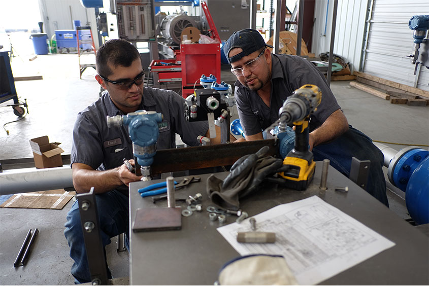 Assembling Machined parts on a skid
