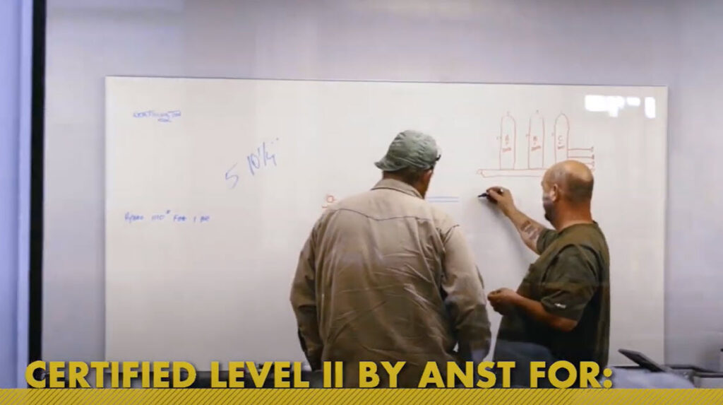 Sawyer Fabrication's Certified Level II ANST inspections