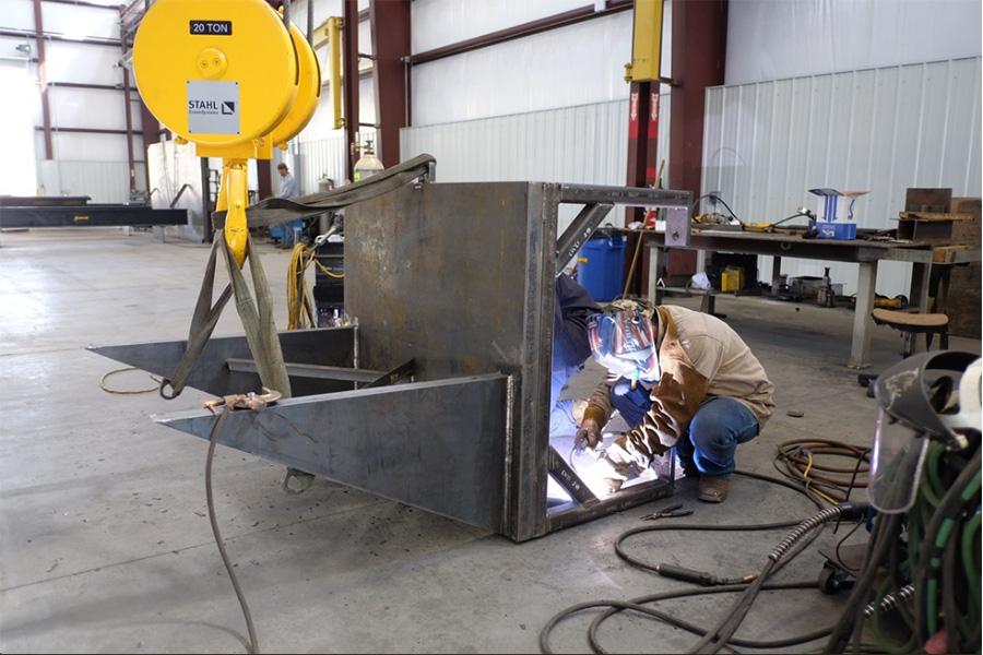 MIG welding on a custom project