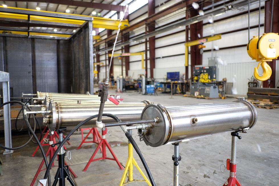 Stainless Steel Vessel Hydro Testing