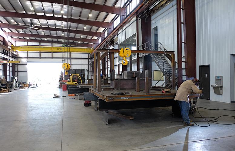 Heavy weld fabrication bay